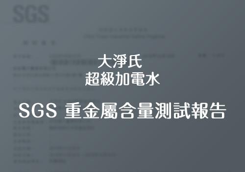 大淨氏-超級加電水SGS重金屬含量測試報告
